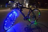Eximtrade 18 LED Bicicleta Ruedas Luces Borde Impermeable (Azul)