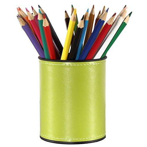 Stifthalter Zubita Multifunktionale Organizer Schreibtisch / Tisch-Organizer / Ablagesystem mit Bürobedarfset / Aufbewahrungsbox / Kosmetikbox / Leder büro Speicherabteil ( Grün )