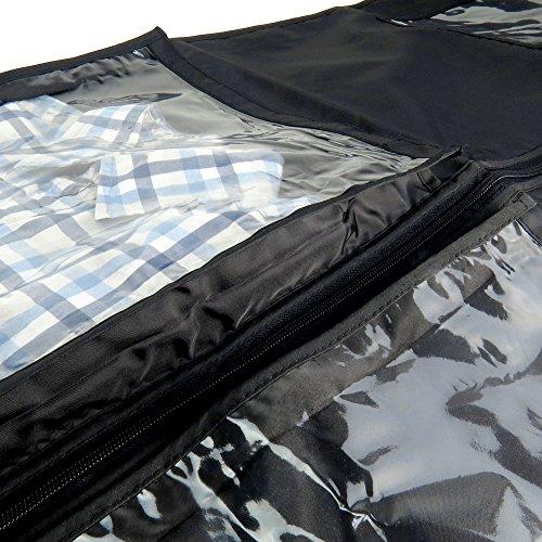 Hangerworld - Porta Trajes Con Asas Para Viajes, Negro, 112 cm