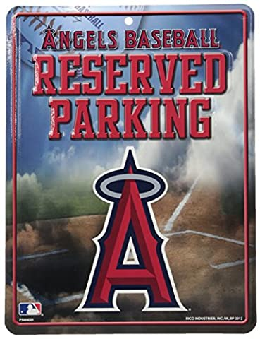MLB Los Angeles Angels High-Res Metal Parking Sign
