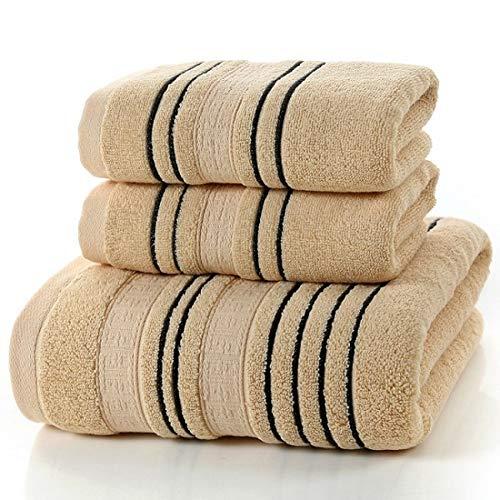 TDPYT 3 Stück Set Grau Baumwolle Handtuch Set Für Männer Gesicht Waschlappen Handtuch 1 Stück Badetuch Camping Dusche Handtücher Bad