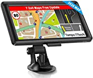 GPS Navi Navigation für Auto, LKW PKW Touchscreen 7 Zoll 8G 256M Sprachführung Blitzerwarnung mit POI Lebenslang Kostenloses