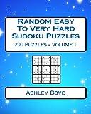 Random Easy To Very Hard Sudoku Puzzles