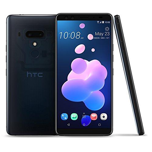 HTC U12 + Smartphone 6.0 Zoll Super-LCD-Bildschirm 128 GB interner Speicher - 6 GB RAM, wasserdicht IP68, Dual-SIM, Android 8.1 (Blue Translucent)