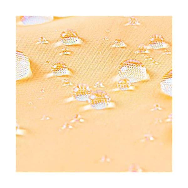 JOYKK Impermeable Impermeable con Capucha, Ligero, Amarillo, Transparente, Impermeable - L 5
