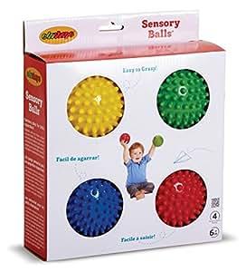 Edushape 10cm Sensory Balls Pack of 4 (Colours Vary)