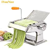 Pinkdose® Russian Federation, Two Blades: Iyounice Free Shipping Stainless Steel Manual Pasta Maker Noodle Making Machine, Vegetable Noodle Maker Ma