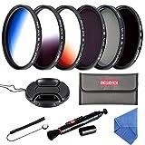 Beschoi Filtro Nd + CPL, Kit Filtri 11 Pcs Accessori per Canon Nikon Sony Pentax Sigma DSLR 77mm