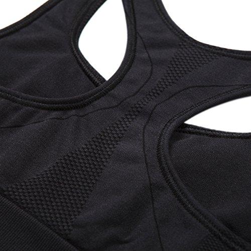 Soutien-gorge/Brassière Sport Femme Lapasa Sans Couture Sans Armature Dos Nageur Cool-tech - Yoga Fitness Jogging Gym Noir