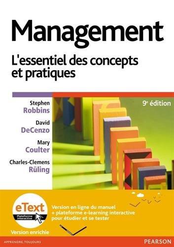 Management 9e édition + eText version enrichie : L'essentiel des concepts et pratiques