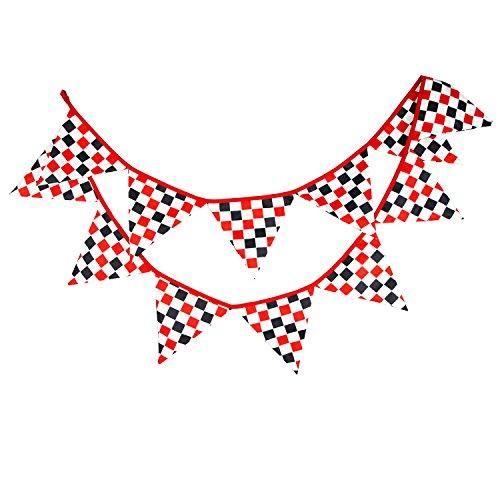 Dorchid Checkered Racing Flagge Karierten Rennwagen Wimpel Fahnen Banner für Racing, Rennwagen Party, Sportveranstaltungen, Kindergeburtstag