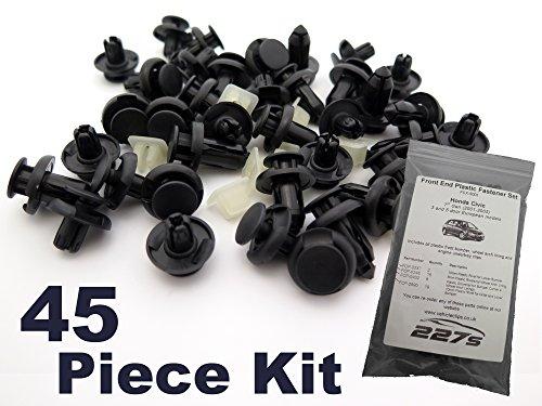 45 Pièces - Garniture En Plastique Assortiment Clip Kit de Montage - Honda Civic Mk7