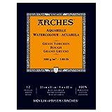 Arches blocco per acquerello incollato 1 lato (12 fogli) - grana torchon - 300 g/mq -  23 x 31 cm