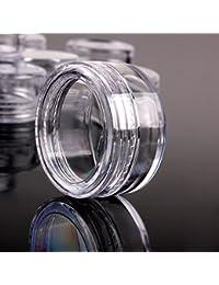 TININNA 25/50/100/200 Pcs 3 Gram claras vacía de plástico envases cosméticos Tarros olla con tapas de