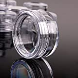 TININNA 25/50/100/200 Pcs 5ML Clear Empty Plastic Cosmetic Containers Pot Jars With Lids 100 Pcs