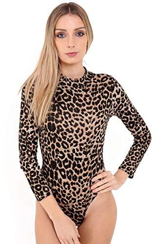 ZEE FASHION - Body - para Mujer Multicolor Leopardo S 34/36