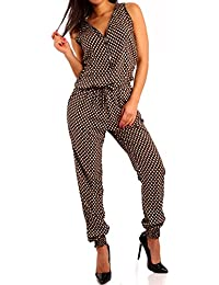 Damen Zipper Overall Jumpsuit Pump