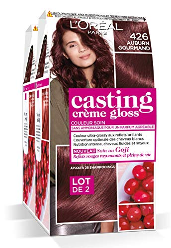L'Oréal Paris Casting Crème Gloss Coloration Ton Sur Ton Sans Ammoniaque 4.26 Auburn Gourmand Lot de 2