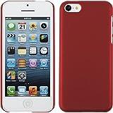 PhoneNatic Case für Apple iPhone 5c Hülle rot gummiert Hard-case für iPhone 5c + 2 Schutzfolien