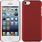 PhoneNatic Coque Rigide pour Apple iPhone 5c - gommée rouge - Cover Cubierta + films...