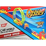 KriToy Super Speed Car Racing Game Wall Tracks With 2 Cars And 10 Pcs Set - DIY Toys