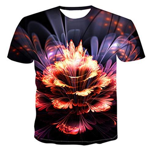 3D Aquarellfarbe Cool T-Shirt Sommer Herren Hip-Hop Primordial Wind O Kragen Shirt Top TXU-384 XXXXL