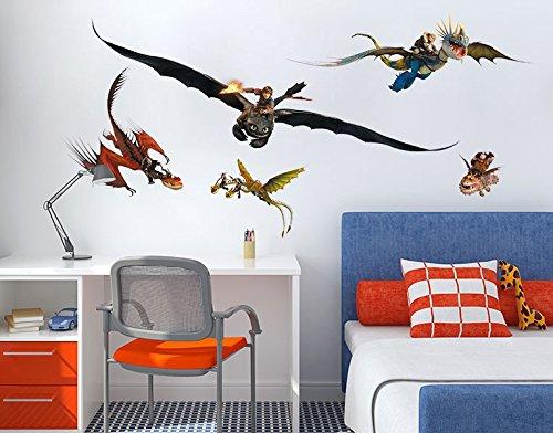 Preisvergleich Produktbild Wandtattoo Dragons Drachenset B x H: 100cm x 51cm von Klebefieber®