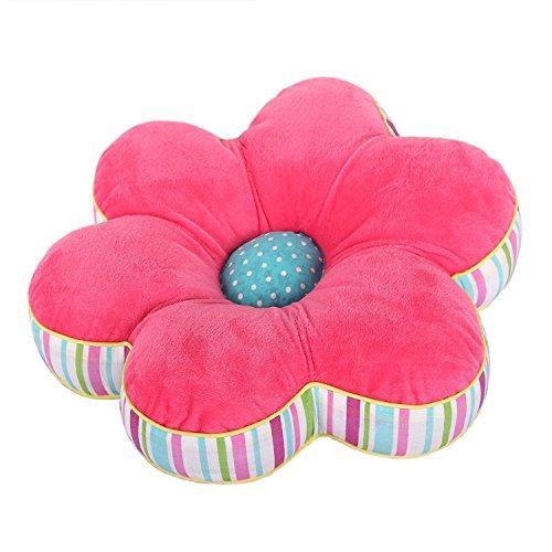 Delindo Lifestyle Sitzkissen FLOWER POWER ROSA - 38x38x9 cm - gefülltes Dekokissen - zur Dekoration - als Geschenk