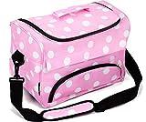 Kenley Professionale Borsa per Attrezzi de Parrucchiere - Polka Dot Pink