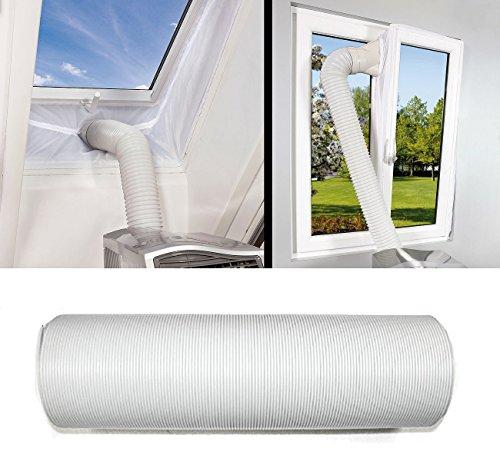 JOYOOO 2m PVC Tubo aire acondicionado Tubo de salida de aire para...