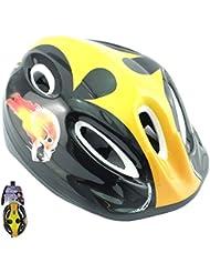 Niños casco de ciclismo para bicicleta, color Yellow Skull, tamaño pack de 1