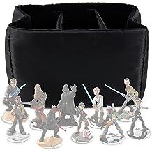 DURAGADGET Estuche Organizador Para Las Figuritas Disney Infinity 3.0 - Star Wars - Acolchado Con Divisores Internos De Quita Y Pon