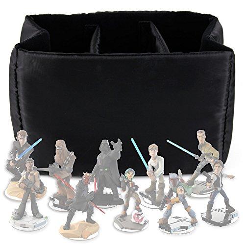 DURAGADGET Estuche Organizador Para Las Figuritas Disney Infinity 3.0 - Star Wars - Acolchado Con Divisores Internos De Quita Y