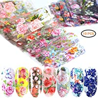 Sarplle Nail Stickers 10 Pieces Nail Art Stickers Lovely Nail Stickers Tattoo Decals DIY Decoration for Women Girl, Phone Case