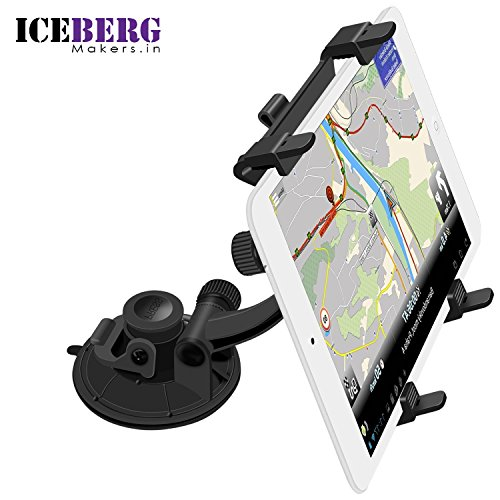 Iceberg Makers.in Universal Tablet Car Windshield Suction Mount Holder for Samsung Galaxy Tab 4/3 iPad Mini/Air 2/Air/2/3/4 (7-10.1 Inch Tablets,Pack of 1)