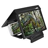 Eboxer Soporte de Pantalla Lupa de Teléfono móvil, 3D Video HD Amplificador de Pantalla Teléfono de Alta definición, Amplificador Universal para Todos los Smartphones