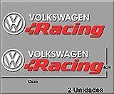 PEGATINAS VOLKSWAGEN RACING R196 VINILO ADESIVI DECAL AUFKLEBER КЛЕЙ STICKERS CAR VOITURE SPORT RACING (BLANCO ROJO/WHITE RED)