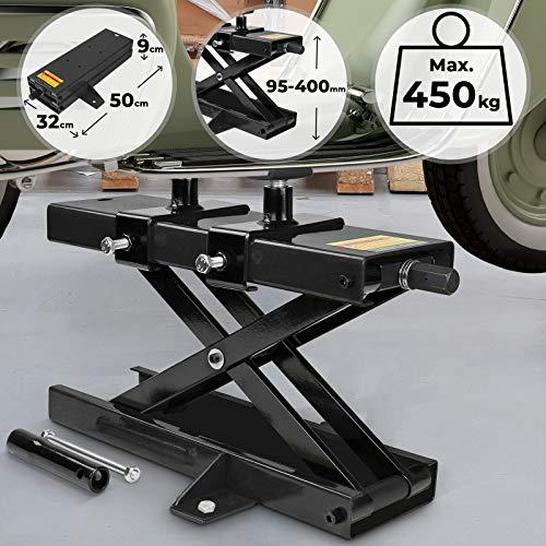 TIMBERTECH Elevador de Motos | Capacidad 450 kg, Altura de Elevación 95-400...