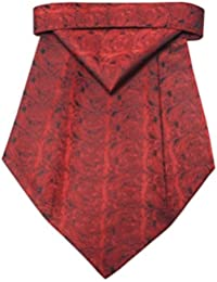 Riyasat - Red Color Paisley Design Micro Fiber Cravat with Pocket Square (C_0072)