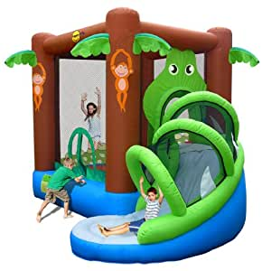 Action Air 9113–Inflatable Play Area Crocodile with Slide
