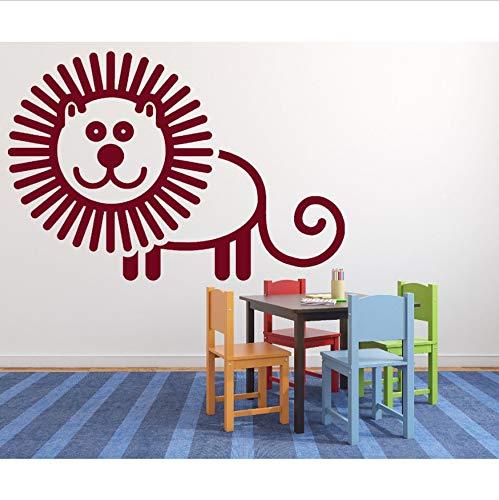 Wandtattoo Schlafzimmer Aufkleber Animiertes Bild Fröhlich Comic Löwe Pvc Kinder Baby Kindergarten Om Art Home Decor Abnehmbare 82X56Cm