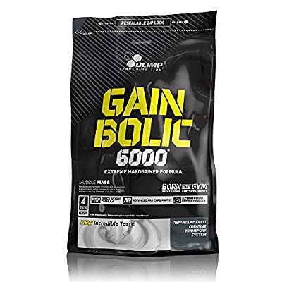 Olimp Gain Bolic 6000 Bag Mass Gainer Supplement, Strawberry Flavour from Olimp Labs