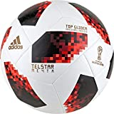 adidas Herren FIFA Fussball-Weltmeisterschaft Knockout Top Glider Ball, White/Solred/Black, 5