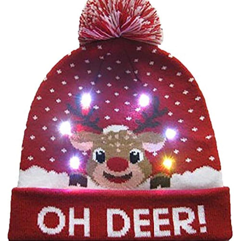 Berretto A Maglia Berretto Cappello Di Natale Led Illuminazione Led