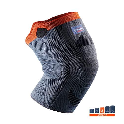 Verstärkte Kniebandage von Thuasne Sport - Grau/Orange - Größe L