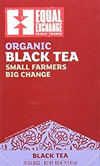 Equal Exchange Organic Black Tea, 20 Count