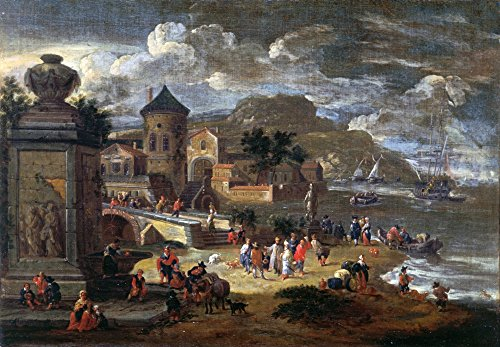 Seascape with An Arbour and Merchants from The East Poster Drucken (91,44 x 60,96 cm) -