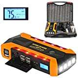 Car Jump Starter,EletecPro 14400mAh 600A Peak with LED...
