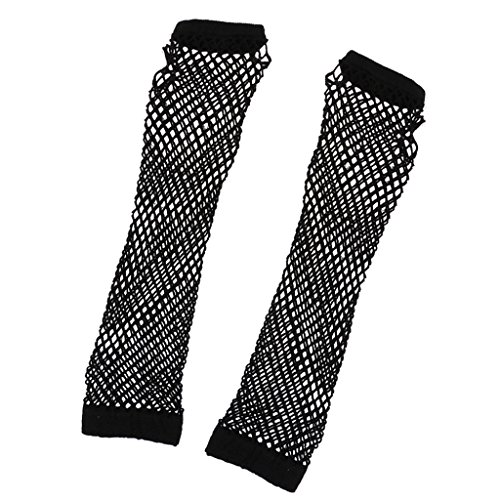 guanti lunghi senza dita Guanti Lunghi Senza Dita Donna Guanti Rete Netto Nero Party Club Punk Goth