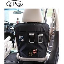 Organizadore para coche Asiento /Protector de asiento de coche / Fundas para asientos de coche Organizador / trasero Organizador / Protector de respaldo para coche con bolsa / Kick Mats (1)